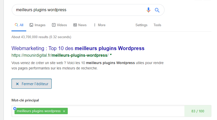 rank math seo - meilleurs plugins wordpress - mounir digital