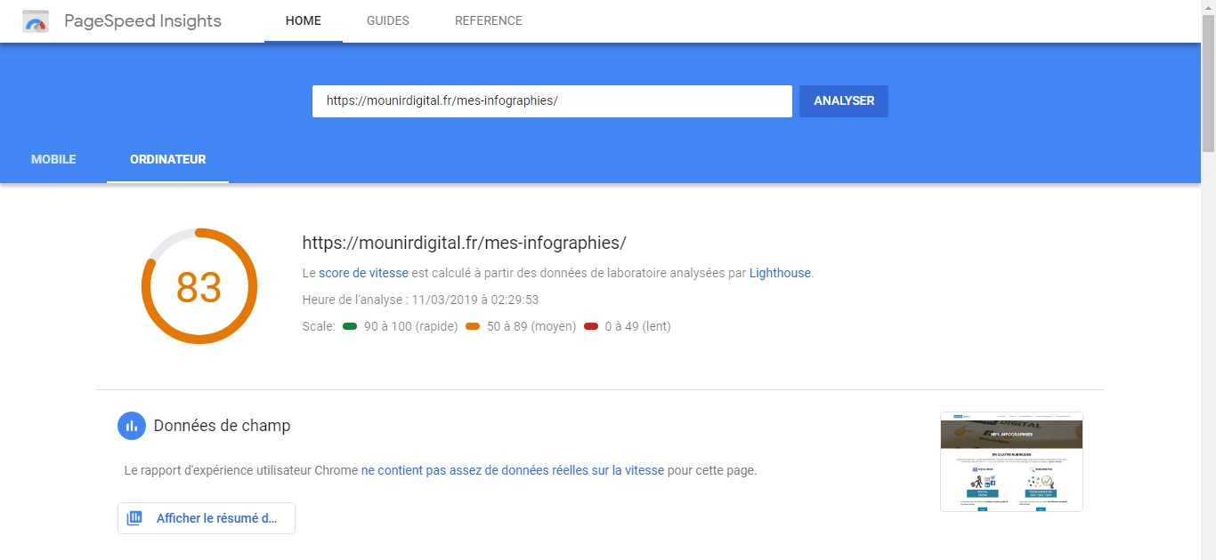 Page speed insight - google seo - Mounir Digital