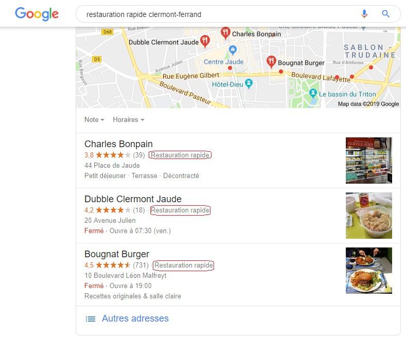seo - comment améliorer son référencement local avec Google - catégories