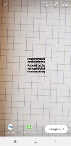 Instagram 6 astuces utiles pour vos stories - Hashtags 1