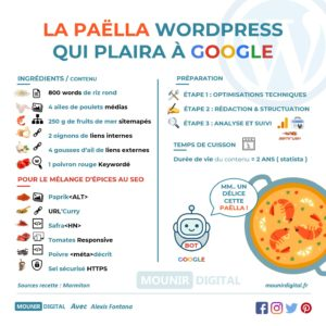 La Paëlla Wordpress qui plaira à Google - Infographies Mounir Digital