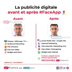 Mounir Digital - Le FaceApp de la publicité digitale - Infographies collab - mounir digital & getfluence