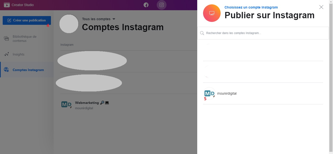Comment programmer les publications sur Instagram 4 - Mounir Digital