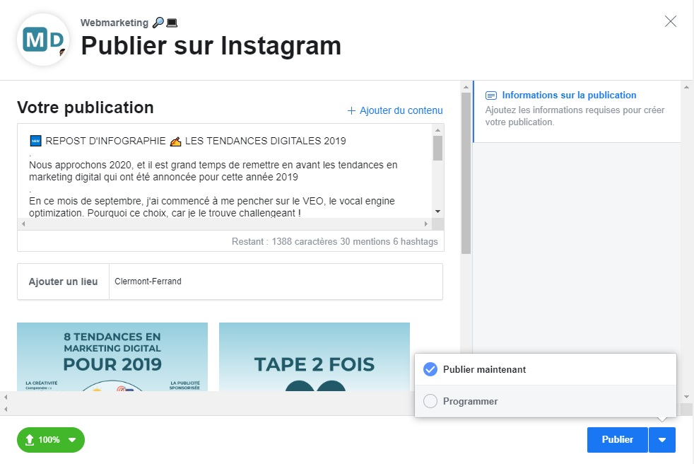 Comment programmer les publications sur Instagram 5 - Mounir Digital