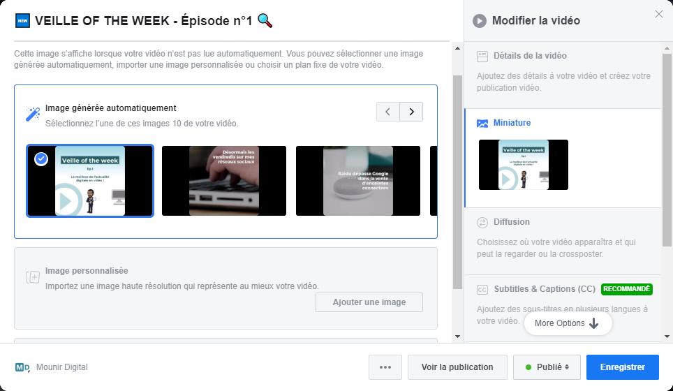 Vidéos Facebook - Miniature - Mounir Digital