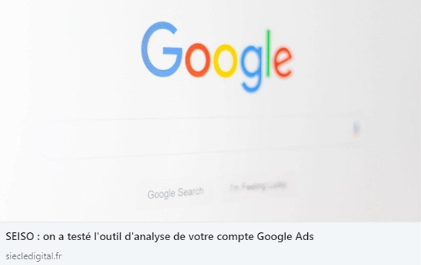 Google - SEISO - comment se démarquer sur LinkedIn - Mounir Digital