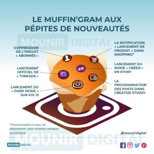 Mounir Digital - Le Muffin'gram aux pépites de nouveautés Instagram - Infographies originales