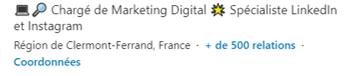 Titre - lieu - Comment se démarquer sur LinkedIn - Mounir Digital