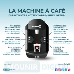 Mounir Digital 126 - La machine à café qui accroitra votre communauté LinkedIn
