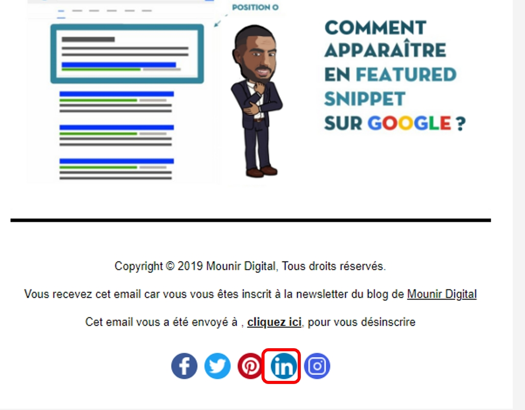 Mounir Digital - bouton linkedin