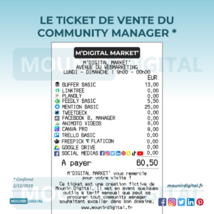 Mounir Digital - le ticket de vente du community manager