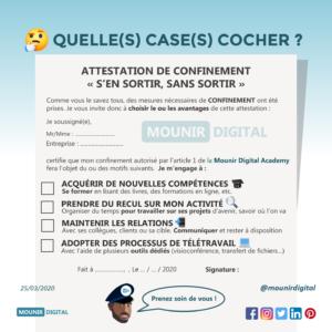 Mounir Digital - Attestation de confinement