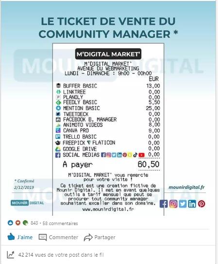 Screen - ticket de vente du digital marketer