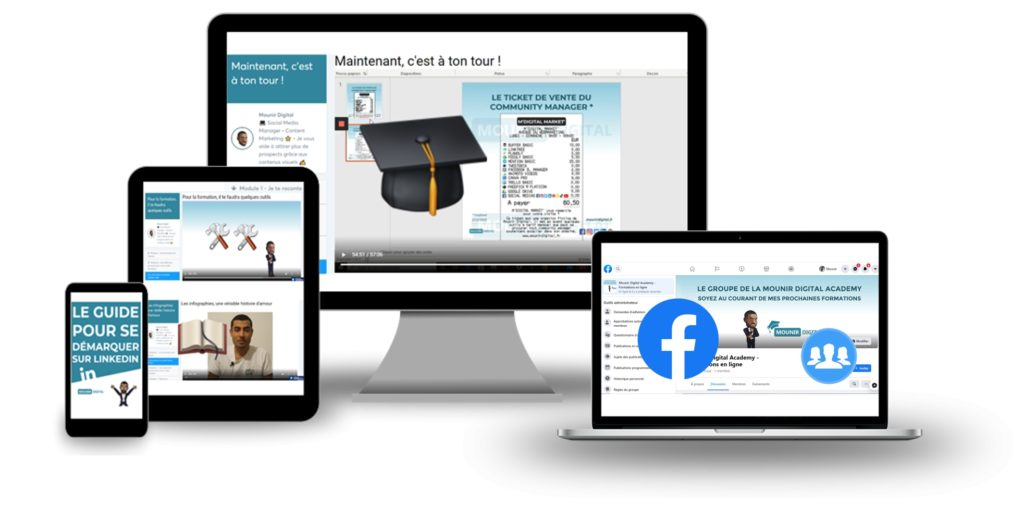 Formations en ligne - Mounir Digital Academy - Mou'graphie