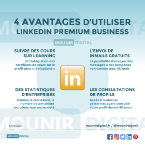 Mounir Digital - Les 4 avantages d'utiliser LinkedIn premiums
