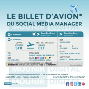 Mounir Digital - Le billet d'avion du social media manager