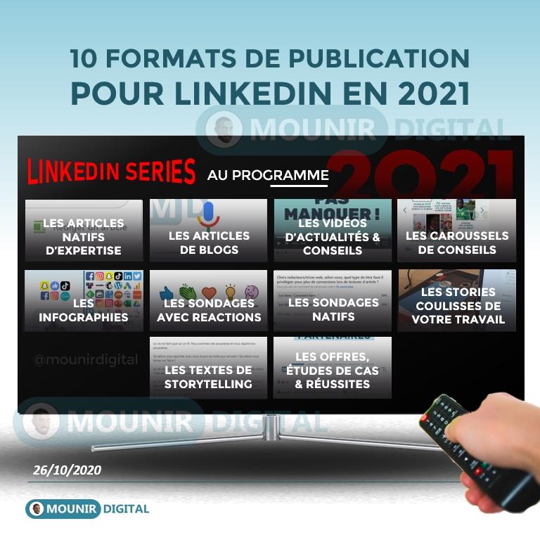 10 FORMATS DE CONTENUS LINKEDIN POUR 2021 - Tendances LinkedIn pour 2021 - Mounir Digital