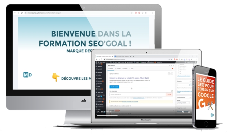 Formation SEO'Goal - Mockup - Mounir Digital