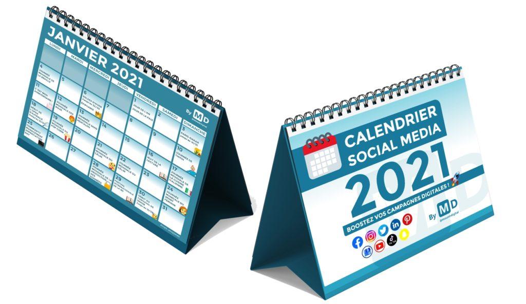 Calendrier Social Media 2021 - En-tête - Merci - Mounir Digital
