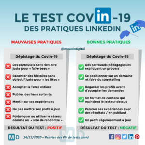 Mounir Digital - Le test covin-19 des pratiques LinkedIn